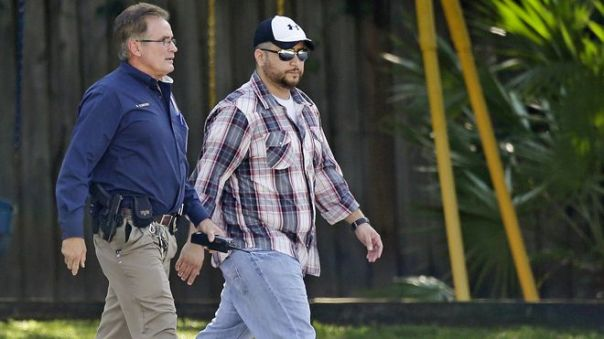 George Zimmerman with Lake Mary police yesterday.