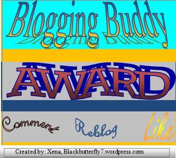 Blogging Buddy Award
