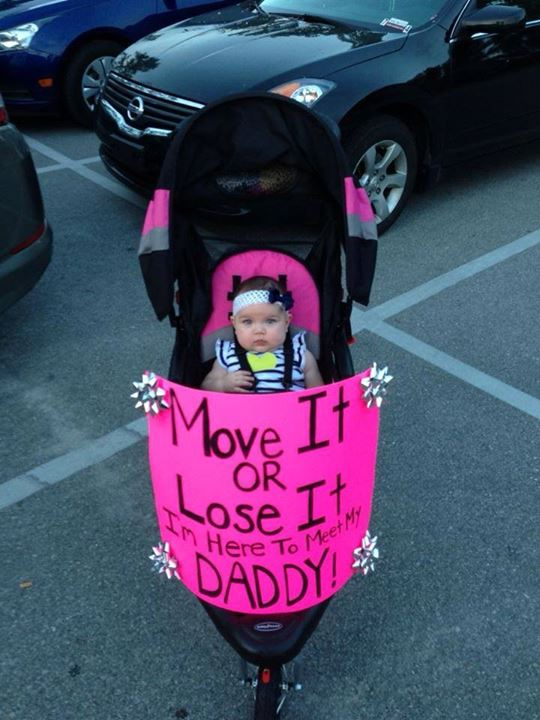 Karla Rodriguez  Here's my daughters homecoming sign for her daddy