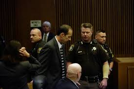 Ted Wafer is taken into custody after the reading of the verdict.