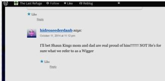 Wigger comment