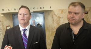 Warren Crittenden and his attorney Brett Swab
