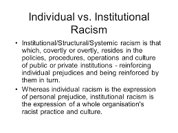 institutionalized racism